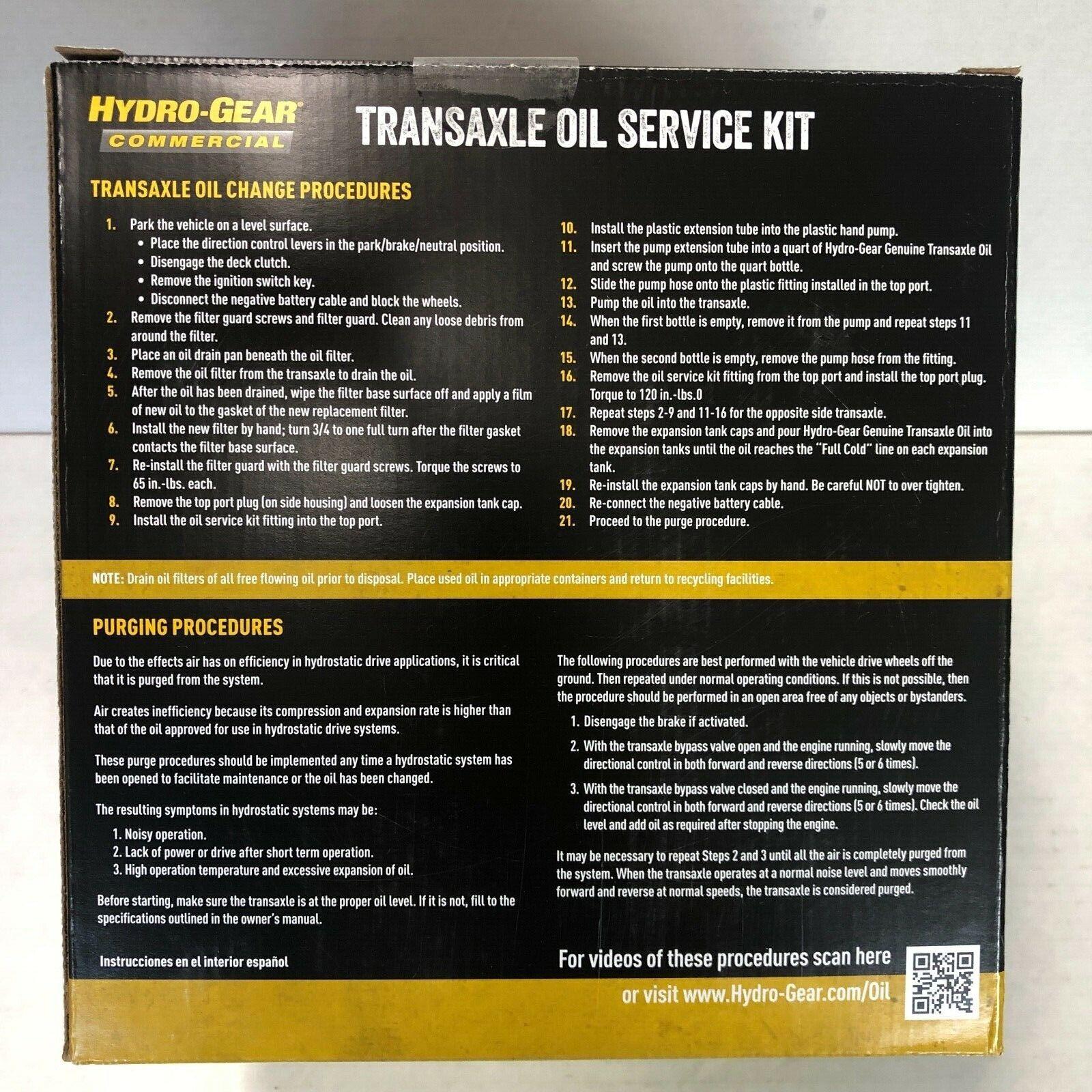 Hydro Gear 72750 Transaxle Oil Service Kit for sale online | eBay