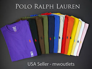 Polo-Ralph-Lauren-MENS-CREWNECK-CLASSIC-FIT-Short-Sleeve-T-Shirt-Tee