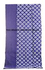 Kantha Quilt Single Bedsheet Shibori Handmade Cotton Blue Bedspread Indian Throw