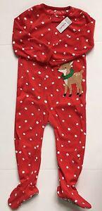 c151ba62caea Carter s Girl s Footed Fleece Reindeer Sleeper - Red Dot - 6 Month ...