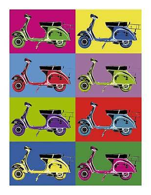 Vespa Vintage Pop Art Quality Canvas Print Retro Scooter Poster B 32x24 Ebay