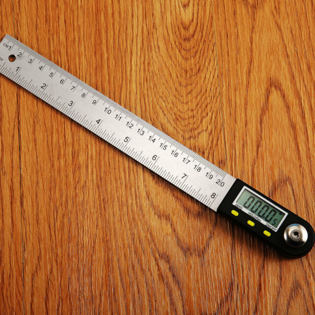 Fashion 2 In 1 Digital Ruler Protractor 360 Degree Electronic 200mm Angle Finder