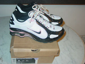 size 40 593d4 1a3f0 Details about 2008 Womens Nike Shox Monster White/Pink/Black Running Shoes!  Size 9 w/Box!