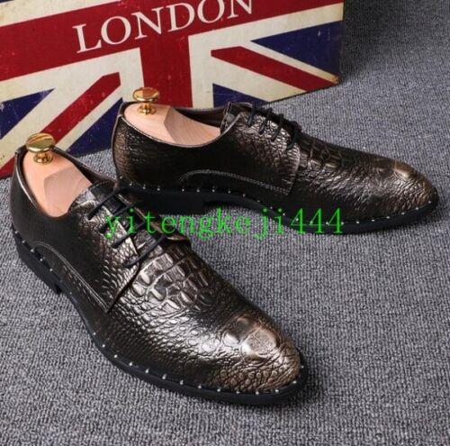 Up Crocodile Business Lace casual Scarpe Formal punta a Yt uomo Abito da qTw877