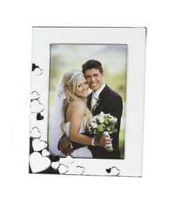 Fotorahmen-Amore-weiss-silber-Format-10-x-15-cm-Bilderrahmen-Bild-Picture