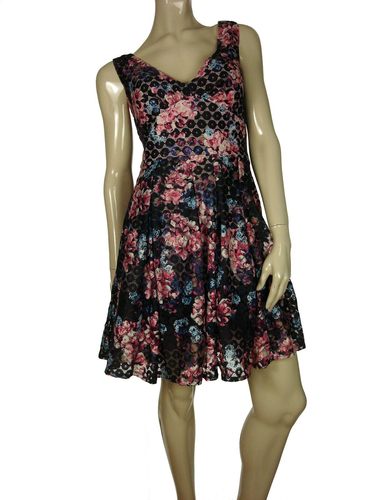 Betsey Johnson Woherren Bow-back Floral-print Dress Rosa Floral 14