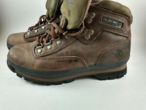 Timberland 95310 Euro Hiker Trail Hiking Ankle Brown Boots Women's Size US 8 M