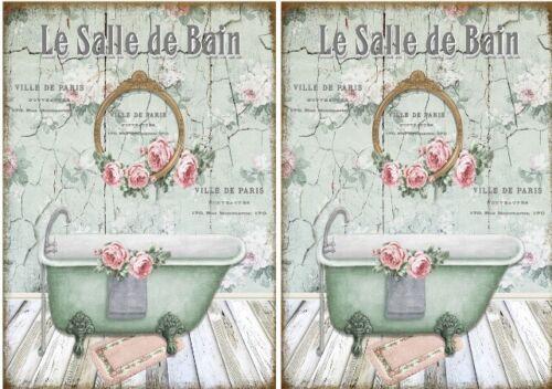 Decoupage-Bastelpapier-Softpapier-Vintage-Shabby-Bad-Le Bain-12701