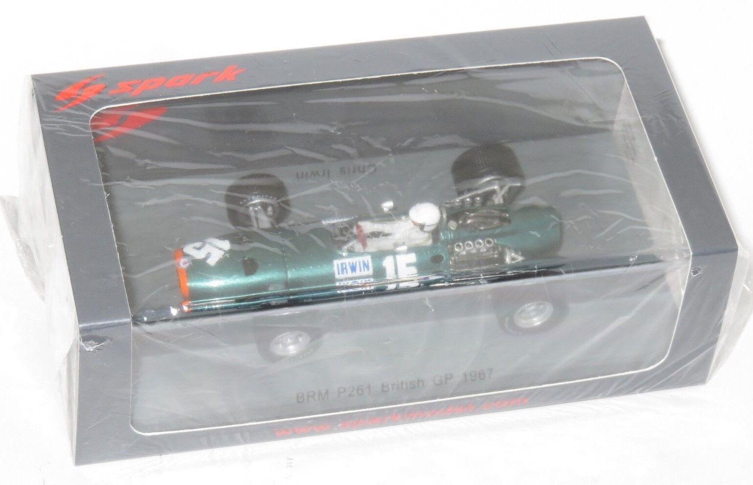 1 43 Spark MODEL BRM P261 British GP 1967 Chris Irwin