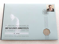 2013 Royal Mint Benjamin Britten 100th Anni 50p Fifty Pence Coin First Day Cover
