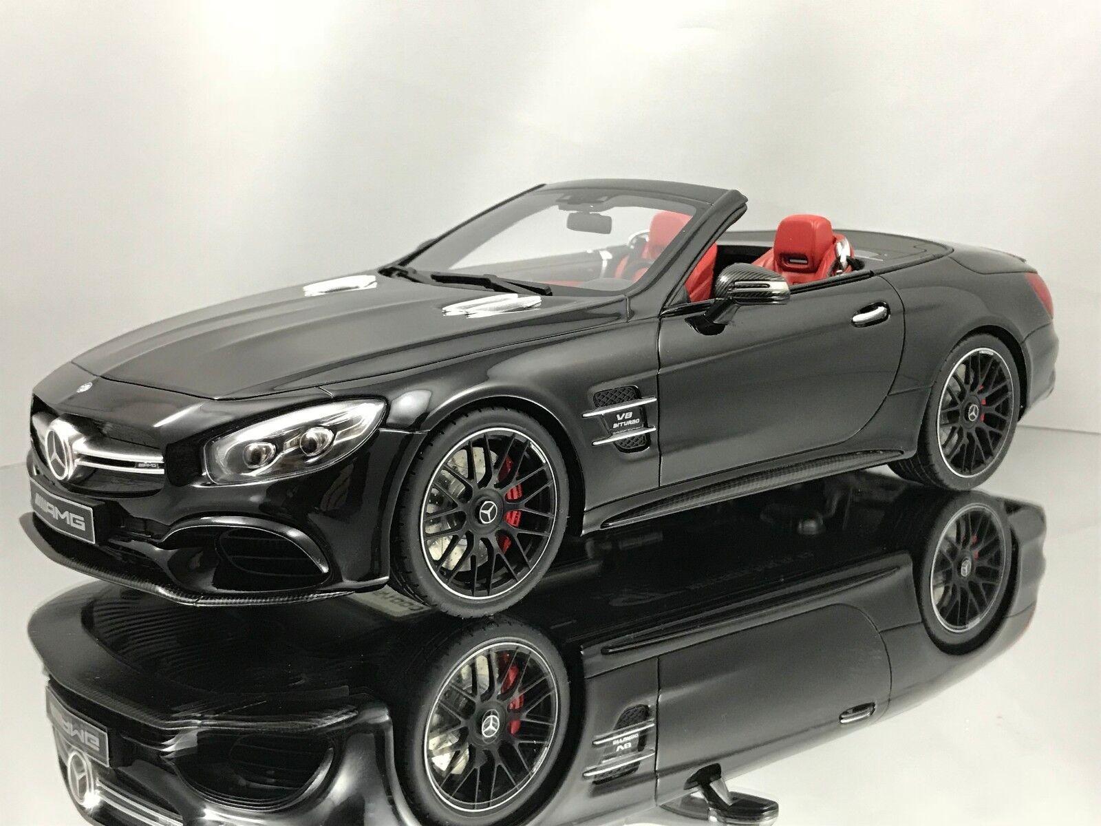 comprar ahora GT Spirit Mercedes Benz SL63 AMG (R231) Cabrio Negro Rojo Rojo Rojo Resina Interior 1 18  ventas al por mayor
