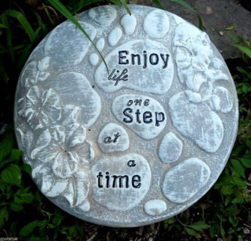 "Enjoy life stepping stone plastic mold 10/"" x  over 1/"" thick"