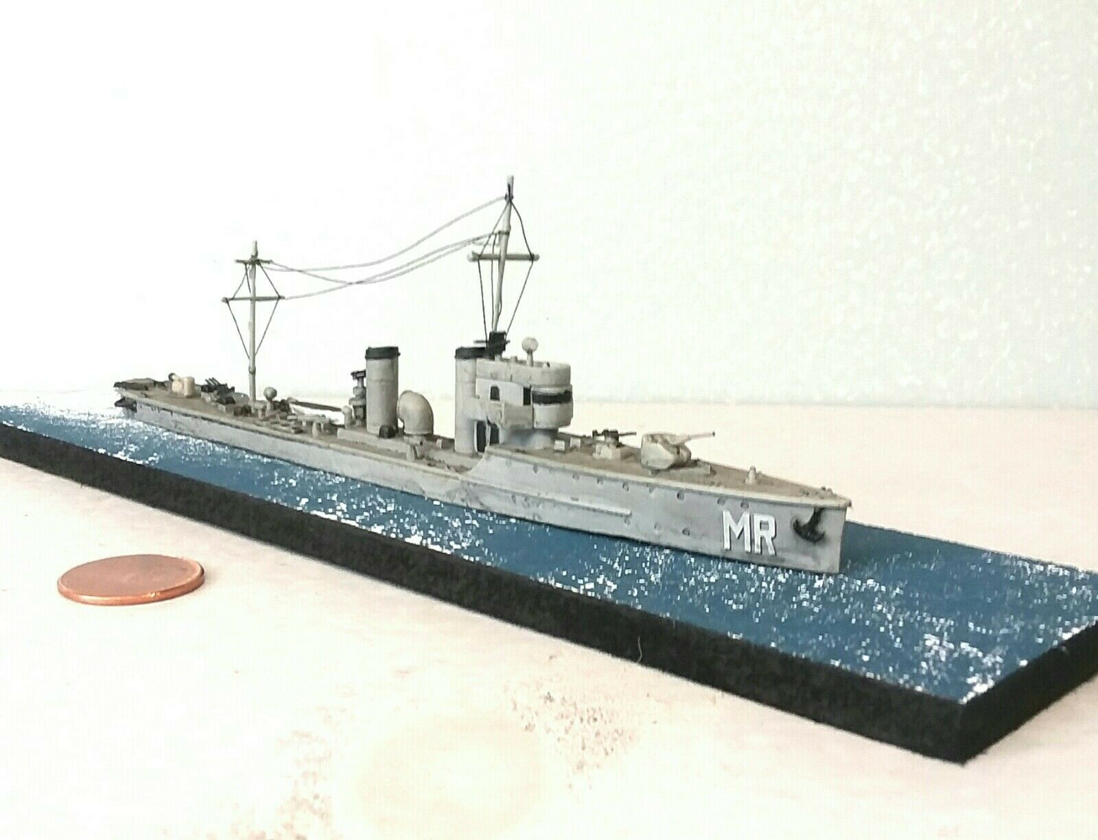 1 700 Scale Built Plastic Model Ship WWII Polish Destroyer