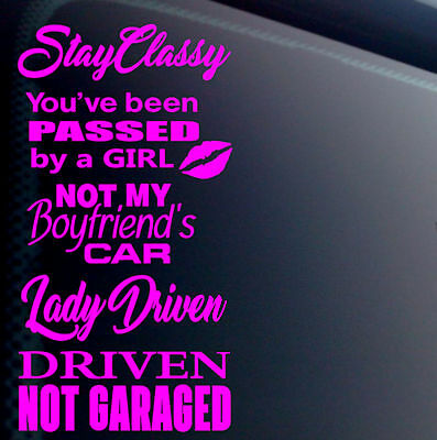 5 Pink Girl Lady Jdm Car Sticker Decal Pack//Lot Euro Low Racing Drift Boost