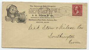 1898-Boston-MA-Bell-Odometer-ad-cover-flag-cancel-y4238