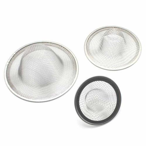 3pcs Stainless Steel Round Sink Strainer Bathroom Filter Net Drain Kitchen   YF