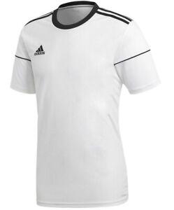 Men-039-s-New-Adidas-Squad-T-Shirt-Top-Fitness-Gym-Training-Soccer-Football-White