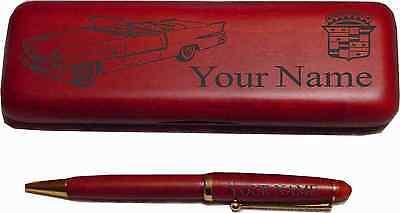 56 Cadillac Convertible Rosewood Pen Case Engraved