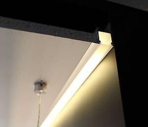 alu profil f r led band alu wei aluminiumprofil decke. Black Bedroom Furniture Sets. Home Design Ideas