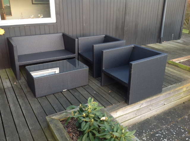 Loungesæt, Living Elements, Loungesæt i sort plastmateriale…