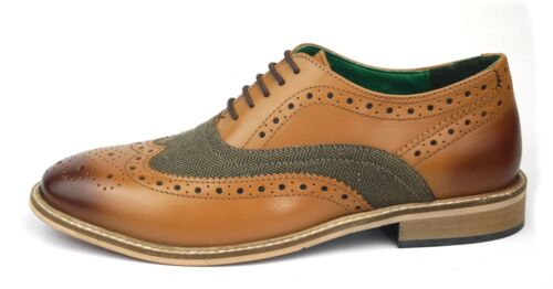 Formal Tan James Canvas Zeno Lace Leather Gatsby Frank Shoes Up Brogues Mens Yvdwxqg