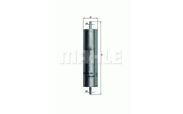 KNECHT Filtro combustible LAND ROVER FREELANDER KL 232