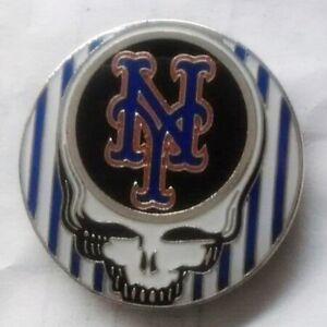 New York Mets - Lapel pin - Grateful dead stealie - Mets - baseball