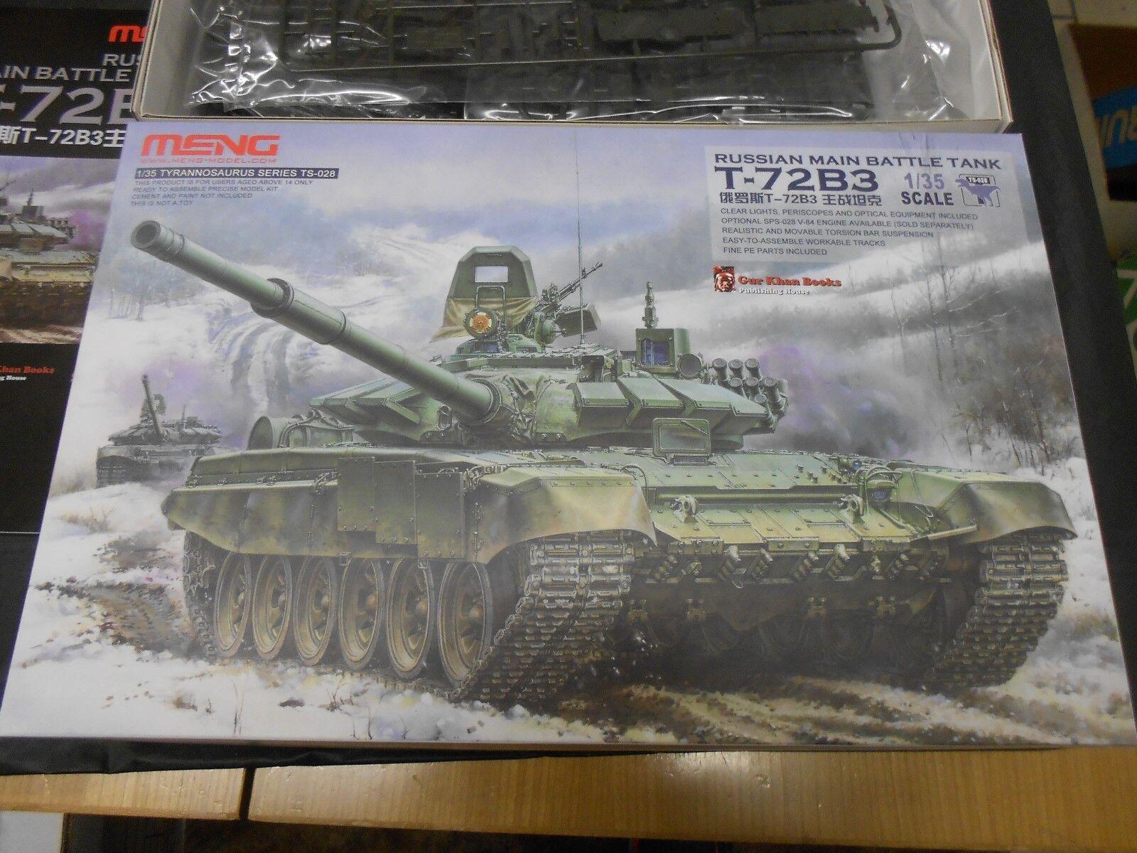 MENG TS-028 1 35 RUSSIAN MAIN BATTLE TANK T-72B3 PLASTIC MODEL KIT