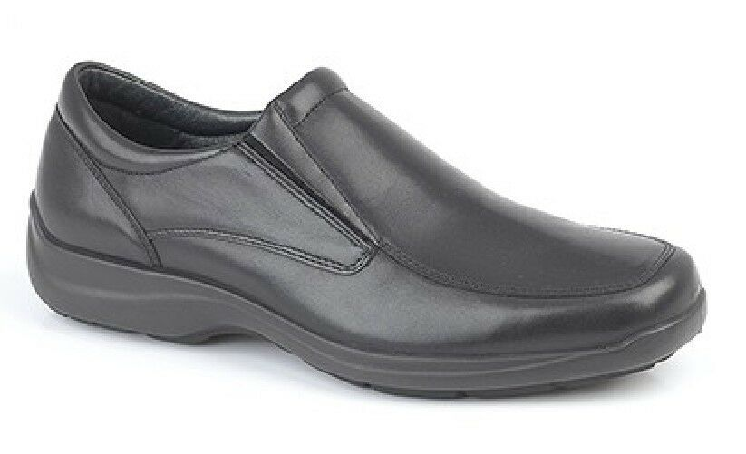 iMac Trevor Twin Gusset Freizeit weite Passform SLIPPER LEDER Bequeme Schuhe