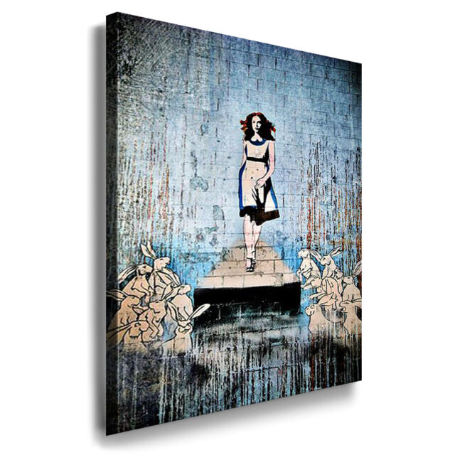 Banksy Graffiti Art Leinwandbild Wandbild Kunstdruck Posterdruck Fotoleinwand 24
