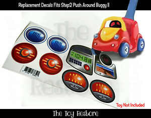 The Toy Restore Replacement Stickers fits Step2 Push Around Buggy II 2 Decal Boy