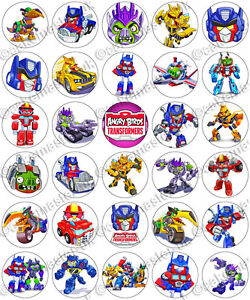 Angry Birds Transformers Party Edible Rice Wafer Jpg 250x300 Birthday Cake Toppers