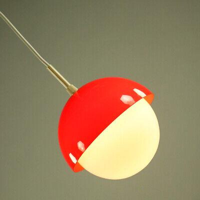 Mutig Pendel Leuchte Glas Kugel & Kunststoff Orangerot Hänge Lampe Vintage 60er 70er
