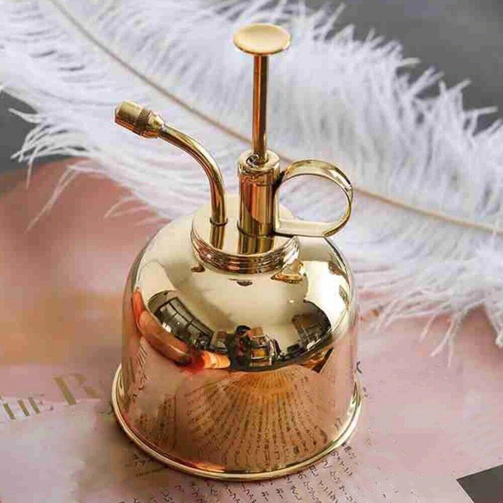 Garden Plant Spray Water Solid Polished Vintage Indoor Bottle Brass Mister 300ml