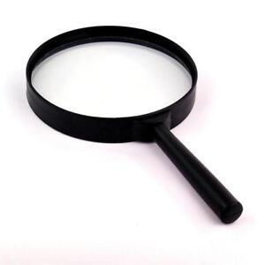 Lupe-Leselupe-5-fache-Vergroesserung-100-mm-Vergroesserungsglas-Lesehilfe-schwarz