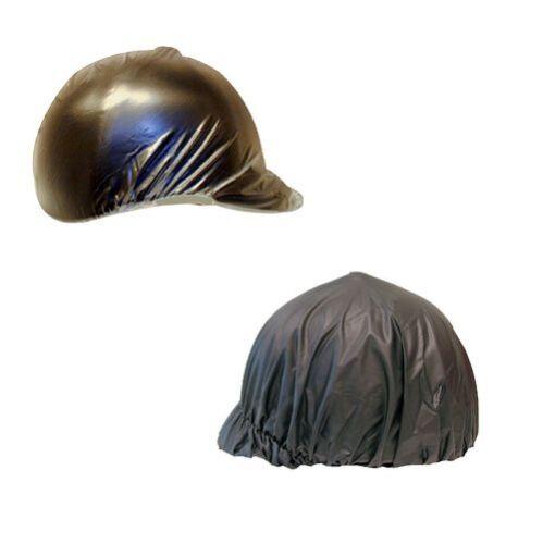 Choice of Black or Clear Vinyl Horse Riding Helmet Rain Cover