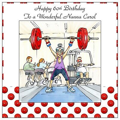 Ladies Personalised Handmade Birthday Card Any Age Funny Bowls Sports Lawn