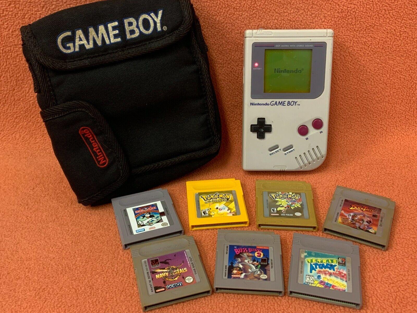 Original Grey Nintendo Game Boy Console Pokemon Authentic Game Bundle W/ Case! on eBay thumbnail