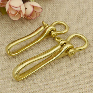 1-Pc-Vintage-Solid-Brass-U-Hook-Key-Ring-Belt-Wallet-Chain-Decor-Accessories