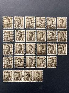 1962 HONG KONG , QUEEN ELIZABETH II , SET OF 27 STAMPS 1$