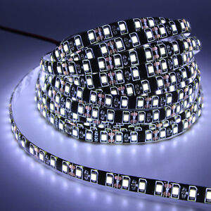 5M-black-PCB-3528-2835-SMD-strip-light-waterproof-300-600-LED-Ribbon-Tape-lamp