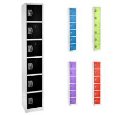 Adiroffice Steel 6 Door Compartment Key Lock Office Gym Storage School Locker