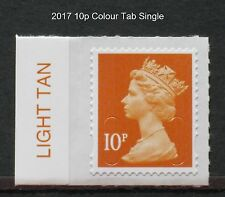 2017 M17L 10p - DE LA RUE - COLOUR TAB Single