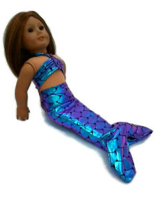 Mermaid-Costume-Fits-American-girl-dolls-18-034-Doll-Clothes-Color-Changes