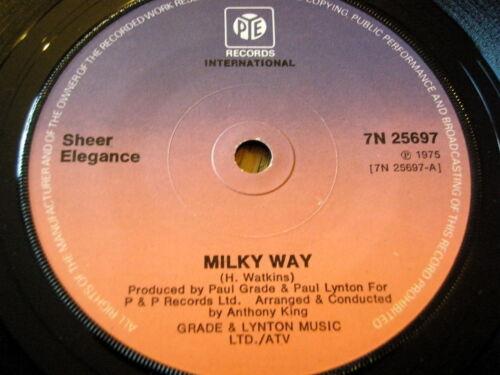 """1 of 1 - SHEER ELEGANCE - MILKY WAY   7"""" VINYL"""