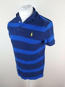 Para-hombres-Camisa-Ralph-Lauren-Polo-Mediano-Personalizado-Azul-A-Rayas-40-Pecho-Etiqueta-Nueva