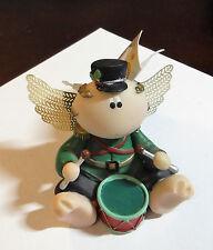 Angel Cheeks RUSS Kirks Kritters Figurine DRUMMER Boy Music Player Christmas