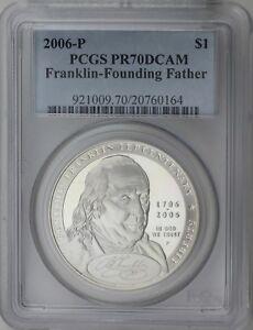 2006-P Franklin Founding Father Commemorative PR70DCAM PCGS Proof 70 Deep Cameo