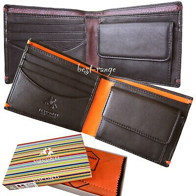 Slim Mini Leather Wallet Cards Travel Tickets Oyster Visconti New in Box VSL30
