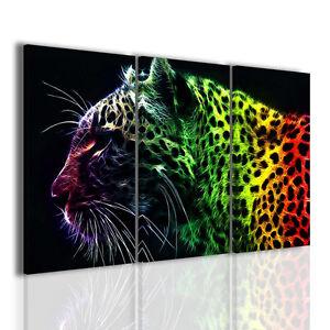 Gemaelde-Moderne-Fire-Leopard-Bild-Einrichtung-Dekoration-Startseite